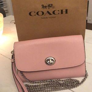 COACH ❤️ Pink Chain Crossbody! Brand New!
